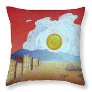 Sunnyside Up Fried Egg Sunrise Throw Pillow