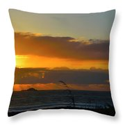 Sunrays And Clouds Throw Pillow