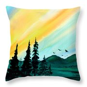 Sunrays Throw Pillow