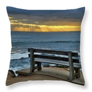 Sunrays On The Horizon Throw Pillow