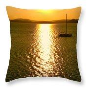 Sunrise 6 8 17 Malletts Bay Throw Pillow