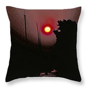 Sunrise 7 Over Lake Michigan  Throw Pillow