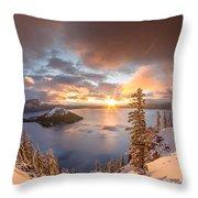 Sunrise After Summer Snowfall Throw Pillow