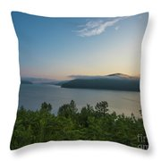 Sunrise Allegheny National Forest Throw Pillow