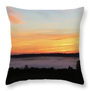 Sunrise Amongst The Clouds Throw Pillow