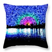 Sunrise And The City Throw Pillow