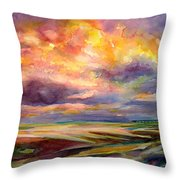 Sunrise And Tide Pool Throw Pillow