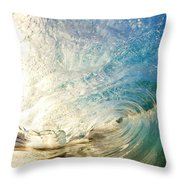 Sunrise And Wave Throw Pillow