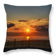 Sunrise - Asbury Park Throw Pillow