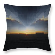 Sunrise At 30k  8 Throw Pillow