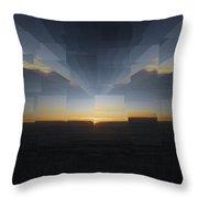 Sunrise At 30k  8 Throw Pillow