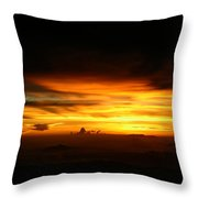 Sunrise At 38k Over El Salvador Throw Pillow