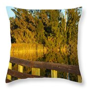Sunrise At A Lake Throw Pillow