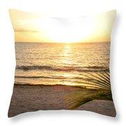 Sunrise At Akumal Sur 1 Throw Pillow