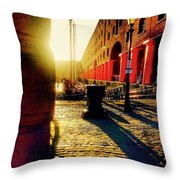Sunrise At Albert Dock Throw Pillow
