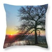 Sunrise At Amelia Earhart Home. Throw Pillow