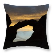 Sunrise At Arch Rock Throw Pillow
