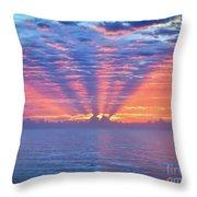 Sunrise At Atlantic Beach Throw Pillow