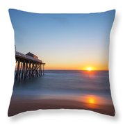 Sunrise At Belmar New Jersey Throw Pillow