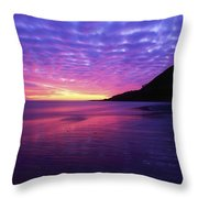 Sunrise At Bray Head, Co Wicklow Throw Pillow