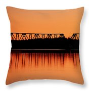 Sunrise At Burbank Throw Pillow
