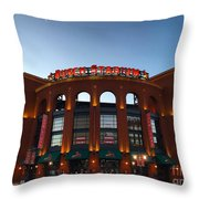 Sunrise At Busch Stadium Throw Pillow