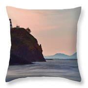 Sunrise At Cape Disappointment Throw Pillow