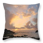 Sunrise At Cockroach Cove Throw Pillow