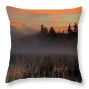Sunrise At Connery Pond 1 Throw Pillow