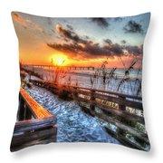 Sunrise At Cotton Bayou  Throw Pillow