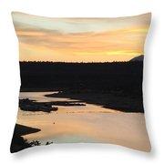 Sunrise At Crawley Lake Throw Pillow