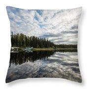 Sunrise At Fish Lake Throw Pillow