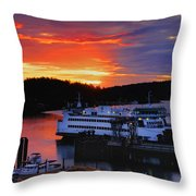 Sunrise At Friday Harbor Throw Pillow