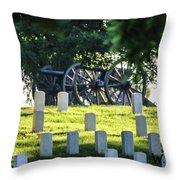 Sunrise At Gettysburg National Cemetery Throw Pillow
