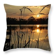 Sunrise At Grayton Beach Throw Pillow