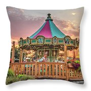 Sunrise At Historic Smithville Inn New Jersey Throw Pillow