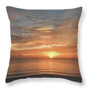 Sunrise At Hollywood Beach Throw Pillow