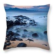 Sunrise At Ho'okipa - Sunrise At Hookipa Beach In Maui Throw Pillow