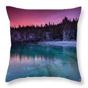 Sunrise At Indian Head Cove Throw Pillow