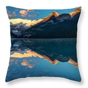 Sunrise At Lake Louise, Banff National Park, Alberta, Canada Throw Pillow