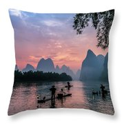 Sunrise At Lee River Throw Pillow