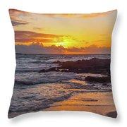 Sunrise At Makapu'u Throw Pillow