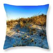 Dawn At Manasota Beach Throw Pillow