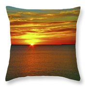 Sunrise At Matane Throw Pillow