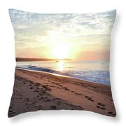 Sunrise At Medano Throw Pillow