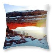 Sunrise At Mesa Arch Throw Pillow