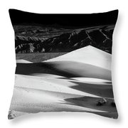 Sunrise At Mesquite Flat Sand Dunes Panorama Throw Pillow