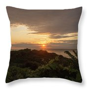 Sunrise At Montauk Point State Park Throw Pillow