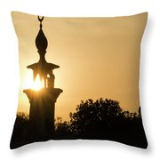 Sunrise At Mosque Of Tadjourah In Djibouti East Africa Throw Pillow