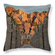 Sunrise At Mount Rushmore Promenade Throw Pillow